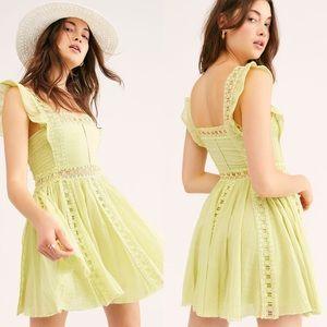 💕NWT Free People One Verona Dress Lime